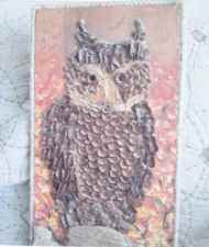 Acorn and Pine Cone Owl by Gayle Sweeney